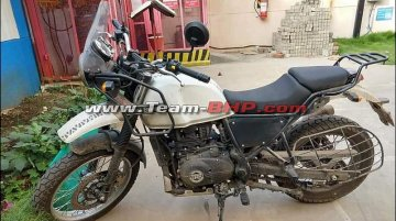 BS-VI 2020 Royal Enfield Himalayan with updated instrumentation spied