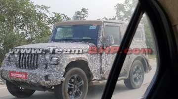 2020 Mahindra Thar sporting alloy wheels snapped, to debut at Auto Expo 2020