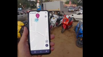 Chetak electric scooter live tracking feature demoed in real life [Video]