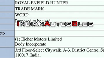 Exclusive: Trademark application for Royal Enfield Hunter filed in India