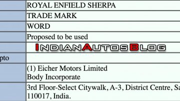 Scoop: Royal Enfield Sherpa trademark application filed in India