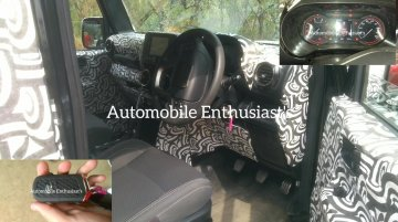 2020 Mahindra Thar interior spied again, cruise control confirmed [Video]