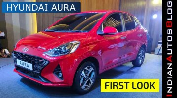 Hyundai Aura Unveiled | First Look at Xcent Successor (Hindi)