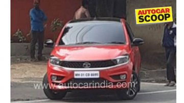 2020 Tata Tiago (facelift) spied sans camouflage, exterior leaked