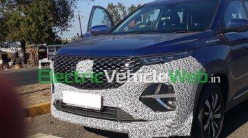 MG Hector Plus spied yet again, in the clearest form till date [Video]