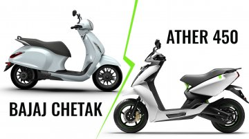 Chetak Vs. Ather 450 - Tech Spec Comparison