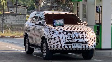 India-bound 2021 Toyota Fortuner (facelift) spied for the first time