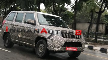 2020 Mahindra TUV300 Plus (facelift) spotted on test yet again [Video]