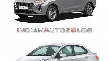Hyundai Aura vs. Hyundai Xcent - Old vs. New