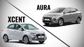 Hyundai Aura vs. Hyundai Xcent - Old vs. New