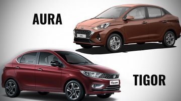 Hyundai Aura vs. 2020 Tata Tigor - Specs, features and prices compared