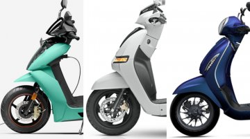 Ather 450X vs Chetak Electric vs TVS iQube - Latest electric scooters compared