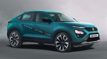 Production Tata Harrier Coupe illustrated - IAB Rendering