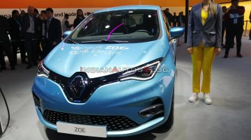 Renault Zoe electric car (due in 2021) - Live From Auto Expo 2020