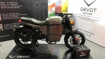 Devot Motors electric motorcycle prototype - Live From Auto Expo 2020