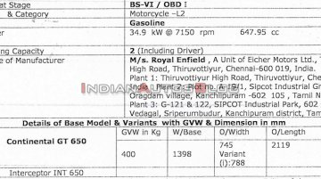 Exclusive: BS-VI Royal Enfield 650 Twins specifications revealed