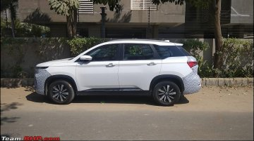 MG Hector Plus spied up close, to be launched after June