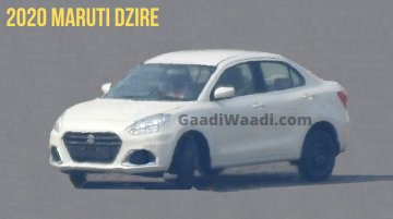 2020 Maruti DZire (facelift) spied for the first time, exterior leaked
