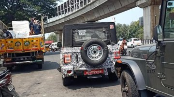 2020 Mahindra Thar with LED tail lamps spied, to be launched by June