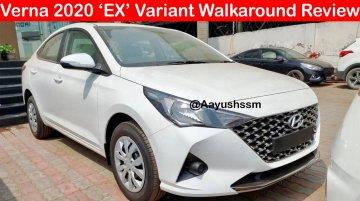Base & top-end 2020 Hyundai Verna (facelift) exterior & interior detailed [Video]