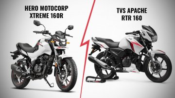Hero Xtreme 160R vs. TVS Apache RTR 160 - Specs & features compared
