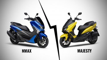 Yamaha NMax 155 vs. Yamaha Majesty S - Design, features, specs & prices compared