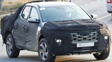 India-bound 2021 Hyundai Tucson-based Hyundai Santa Cruz truck spied