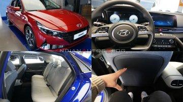 India-bound 2021 Hyundai Elantra interior & exterior detailed - In 35 Live Images