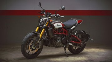 Indian FTR Carbon revealed, is inspired by the Indian F750 flat tracker