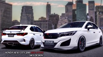 2020 Honda City modified with bodykit for Honda NSX resemblance