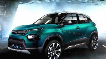 Tata HBX EV electric SUV imagined - IAB Rendering