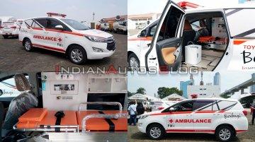 Toyota Innova Ambulance modified MPV donated for fighting COVID-19 outbreak