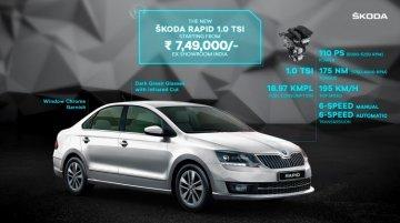 बीएस6 Skoda Rapid TSI भारत में लॉन्च, प्राइस 7.49 लाख रूपए