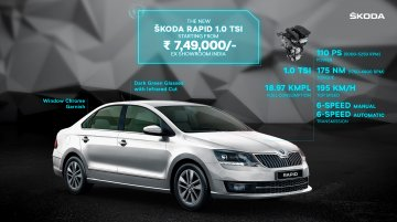 BS6 Skoda Rapid TSI launched in India, priced from INR 7.49 lakh