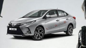 2021 Toyota Yaris sedan imagined - IAB Rendering