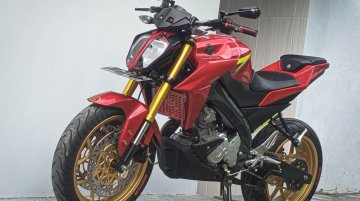 Yamaha V-Ixion modified to replicate KTM 390 Duke