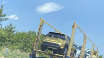 Gold Toyota Yaris Cross spotted in real-life for the first time