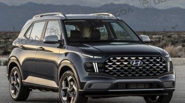 New Hyundai Venue facelift imagined - Rendering