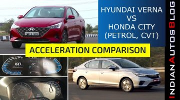 All-new Honda City vs 2020 Hyundai Verna 0-100 kmph Acceleration Run