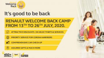 Renault announces 'Welcome Back' service camp for its customers in India