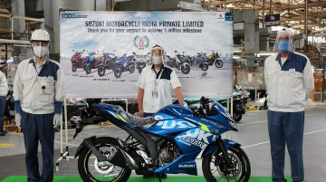 Gixxer SF 250 BS6 becomes the 5 millionth unit to roll out from Suzuki's Gurugram plant