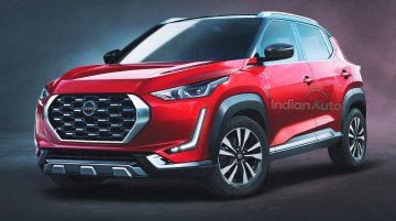 Nissan Magnite (Hyundai Venue Challenger) Rendered In Its Production Avatar