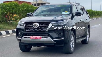 2021 Toyota Fortuner Spotted Testing With Minimal Camouflage; Launch Expected This Diwali