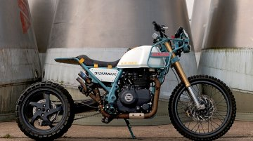 Modified Royal Enfield Himalayan fitted with a turbocharger makes 50PS [Video]