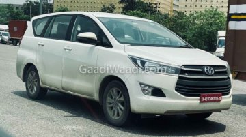 Toyota Innova Crysta CNG Prototype Spotted Whilst Testing Once Again