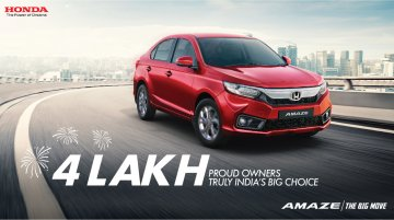 Honda Amaze surpasses 4 lakh cumulative sales milestone in India