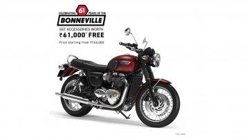 Triumph is offering free accessories worth INR 61K on entire Bonneville range