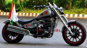 Custom Royal Enfield by Rideofy pays tribute to Corona Warriors