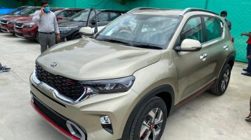 Kia Sonet GT Line Spied Inside-Out at Dealership Stockyard