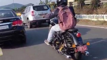 New 650cc Royal Enfield Cruiser spied testing for the first time [Video]